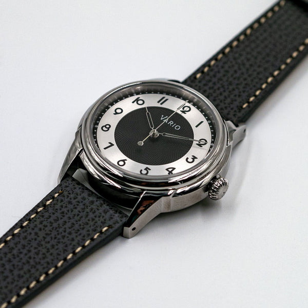 vario empire black tuxedo dress watch nh38a seiko automatic