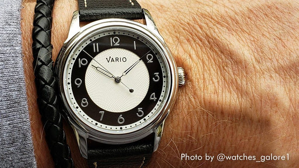 vario empire white tuxedo dress watch