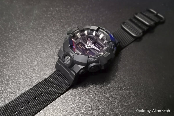 g shock ga700 on vario ballistic nylon watch strap