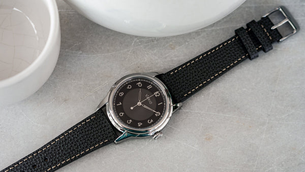 Empire Gunmetal Tuxedo Automatic Dress Watch