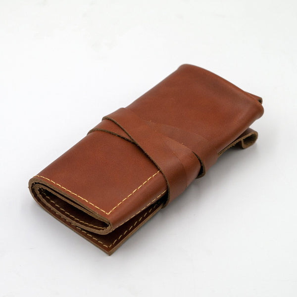 vario travel watch pouch brown closed