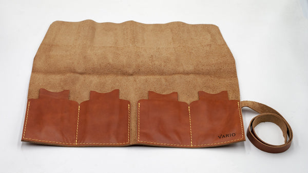 vario travel watch pouch brown open