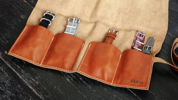 vario travel watch pouch brown