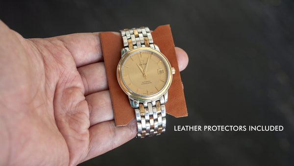 Belarusian Caramel Brown Leather Watch Roll (2 Pockets)