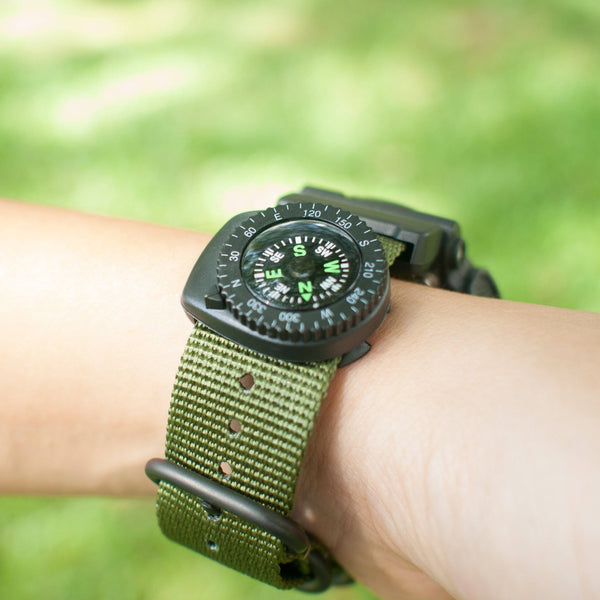 clip on compass on vario ballistic nylon strap
