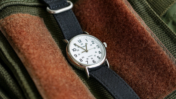 vario cordura single pass zulu watch strap timex black