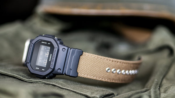 vario cordura single pass zulu watch strap gshock