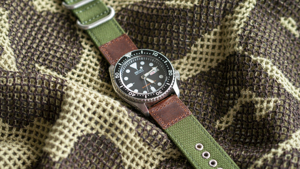 vario cordura oiled leather olive green seiko