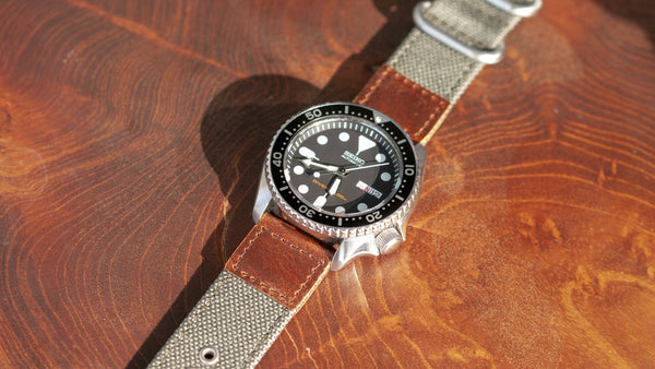 vario cordura oiled leather vintage army green seiko