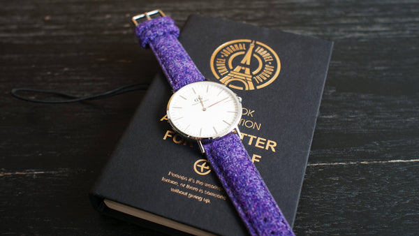 montre daniel wellington sur bracelet en tweed vario harris