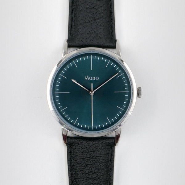 eclipse green dial watch with zrc buffalo watch strap
