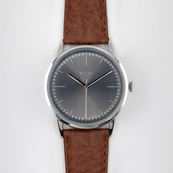 eclipse 38mm grey dress watch harris tweed strap