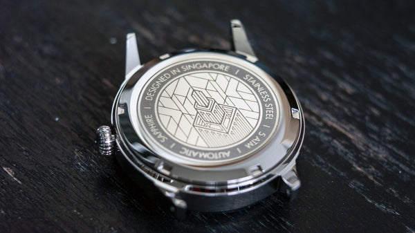 Vario empire dress watch automatic illustrated watch caseback