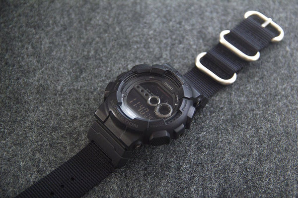 gd100 with vario black ballistic nylon watch strap