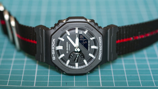 gshock ga2100 am vario adapter nato strap