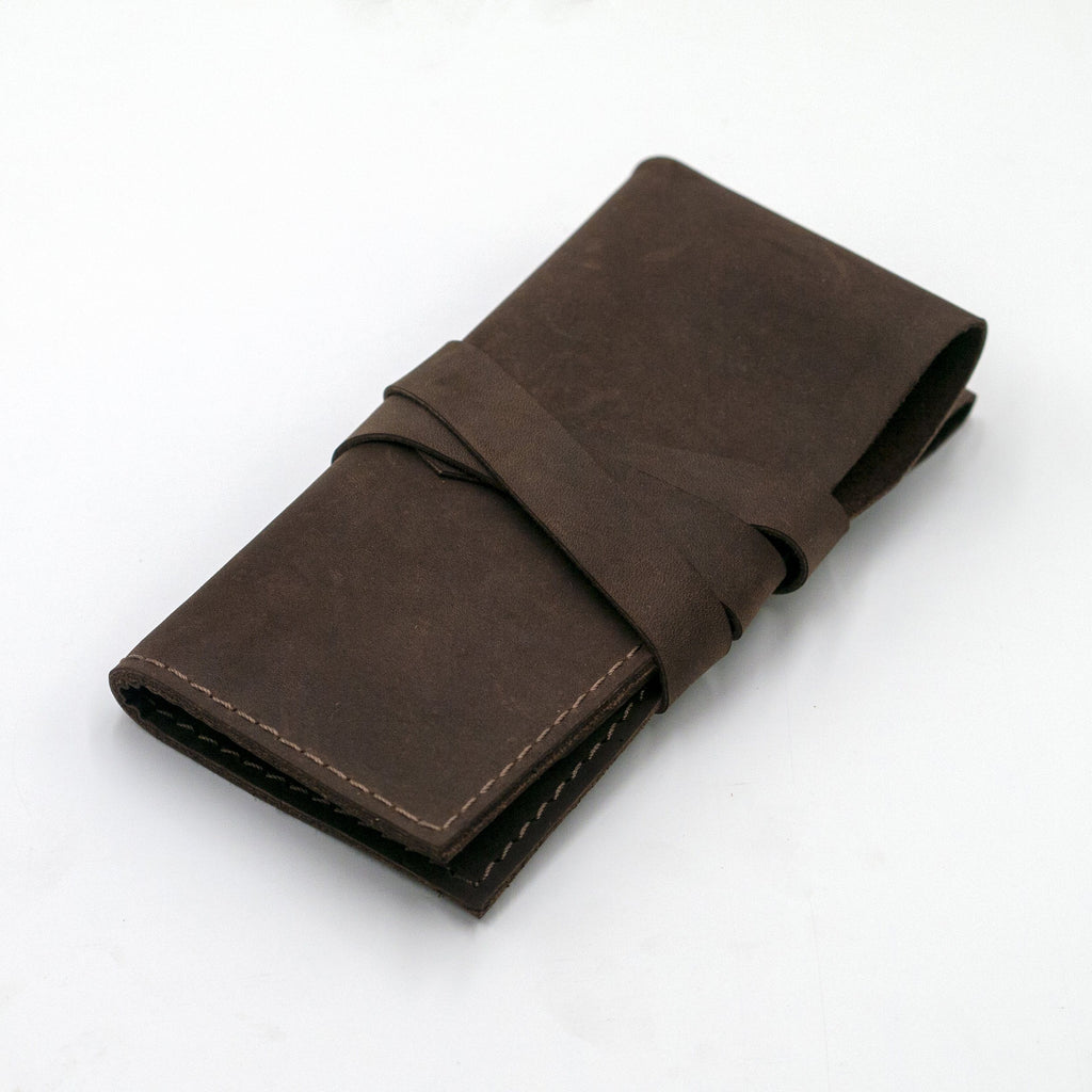 vario travel watch roll brown folded