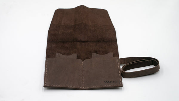 vario travel watch roll brown open