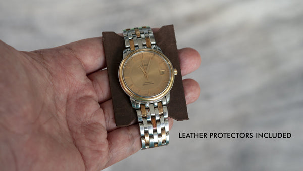Belarus Hickory Brown Leather Watch Roll (4 Pockets)