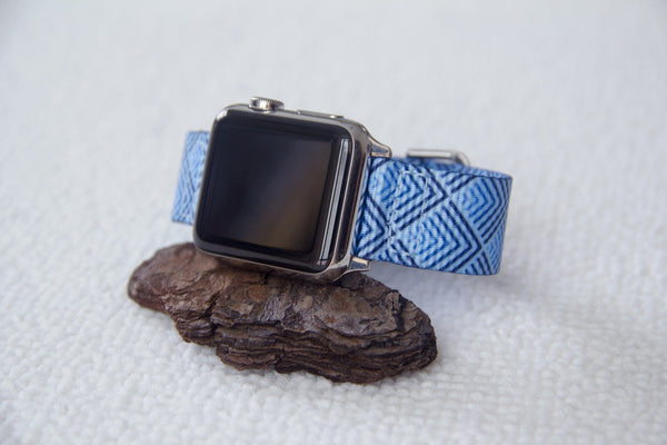 apple watch with sky pyramid 2 piece nato strap