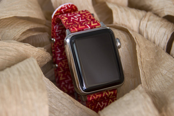 apple smart watch with vario orange tangy nato strap