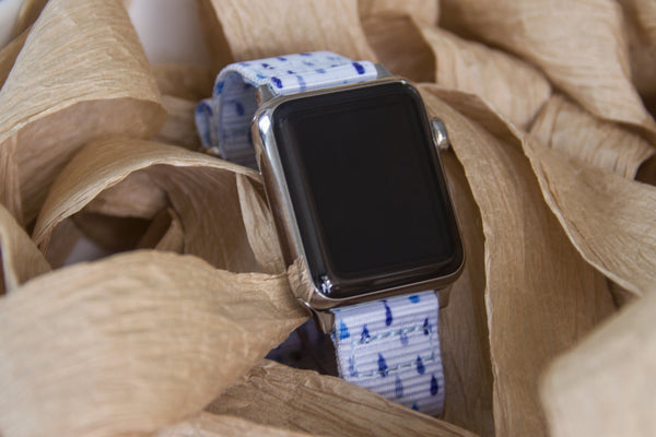 apple watch with raindrops nato strap band