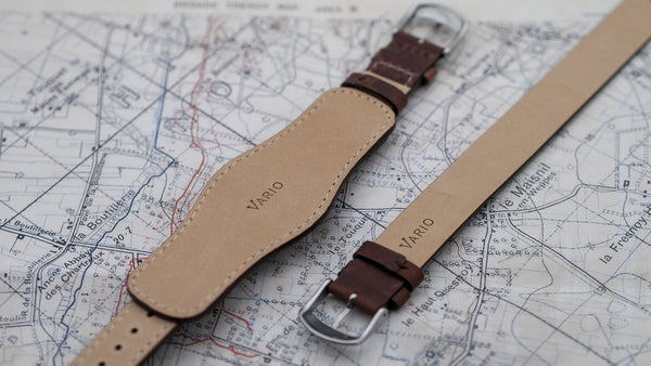 vario 1918 trench field watch leather watch band