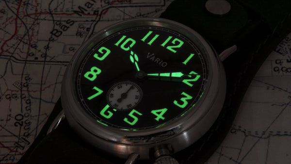 vario 1918 trench field watch lume ww1