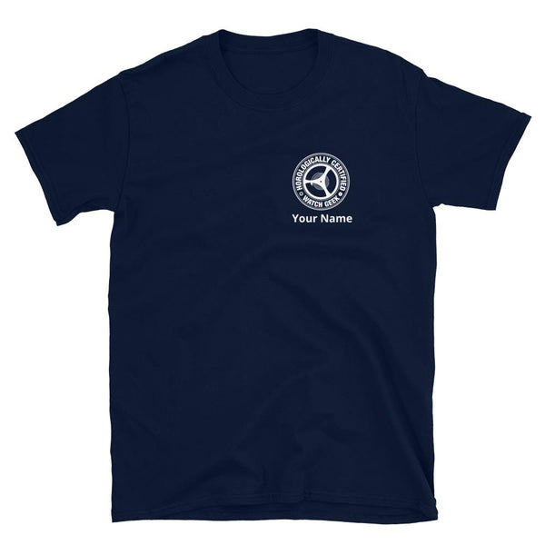 Horology T-Shirt - Certified Watch Geek Personalisieren