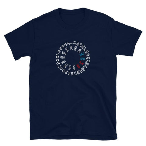 Horology T-Shirt — NH36 Inspired Day Date Wheel Spanish
