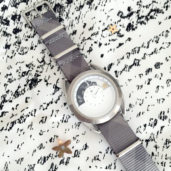mr jones watch with mono plaid nato strap