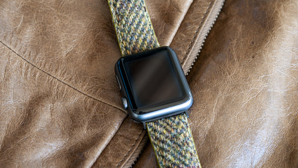 vario herringbone harris tweed watch strap