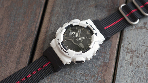G Shock GA110 mit vario ballisitischem Nylon-Single-Pass-Nylon-Armband