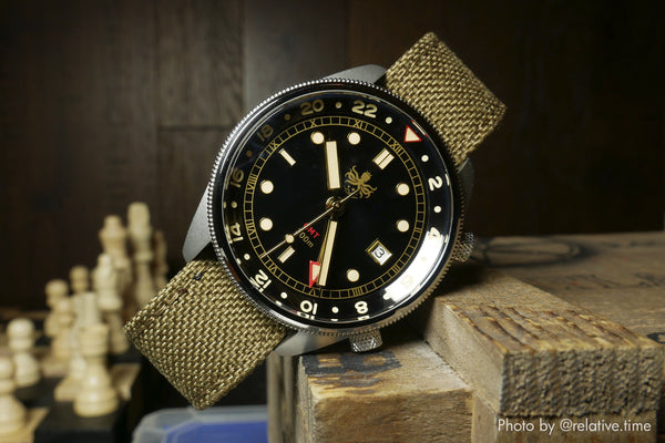 phoibos watch with vario cordura watch strap