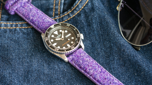 vario harris tweed watch strap seiko skx007