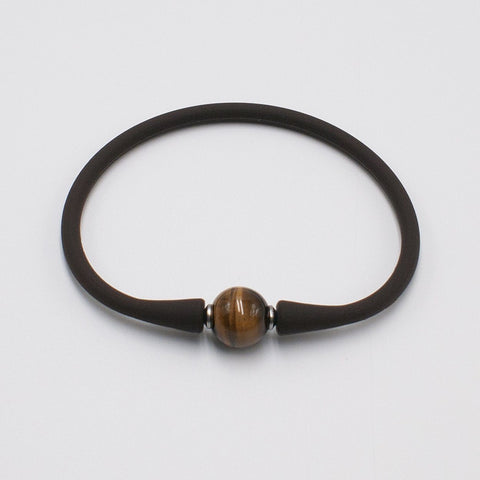 vario brown tiger eye silicone band