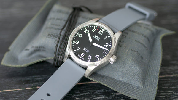 Pewter Grey Quick Release Silicone Watch Strap