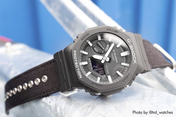 gshock ga2100 on vario cordura watch band