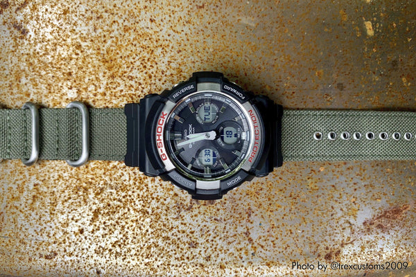 vario gshock gas100 cordura nato watch band