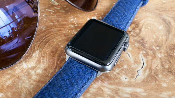 Harris Tweed Navy Blue Watch Strap for Apple Watch