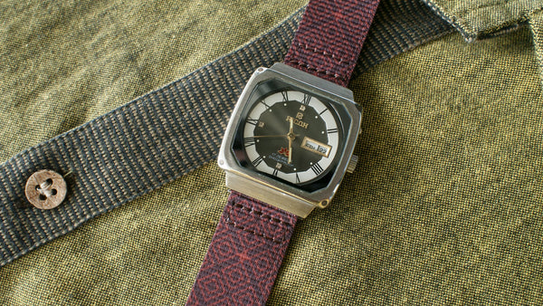 vario graphic nato batik quad watch strap ricoh vintage watch