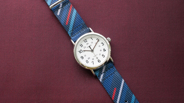 vario graphic nato midnight comet blue watch strap timex weekender watch