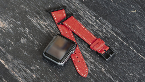 vario italian leather watch band apple watch
