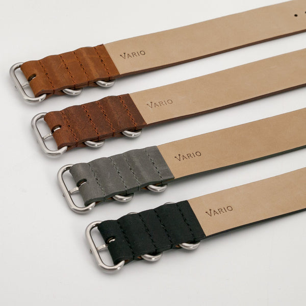 vario crazy horse leather zulu watch strap
