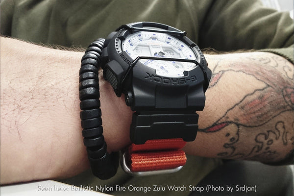 vario g-shock ballistic nylon watch band