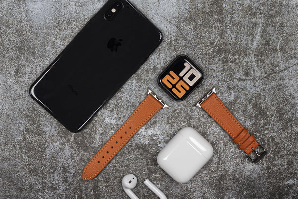 vario apple italian leather watch strap