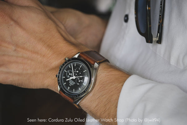 vario cordura watch strap on omega speedmaster