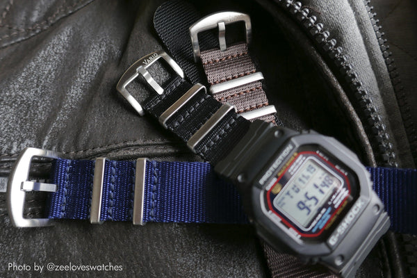gshock dw5610 on vario seat belt nato strap