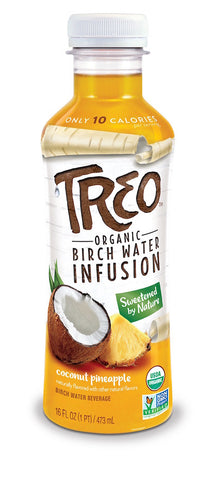 Treo Organic Birch Water Infusion Coconut Pineapple 473ml x 12