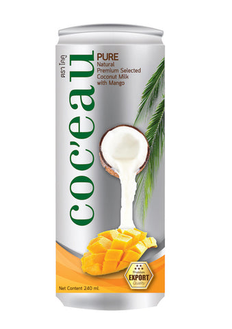 Coc'eau Coconut Milk with Mango flavor 240ml x 24 cans