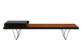 John and Sylvia Reid Medium Bench Table with Leather Pad